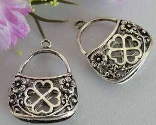 free ship 33pcs tibet silver bag charms pendants #1A18