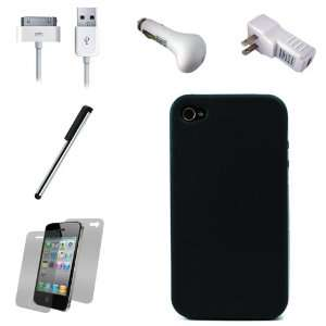 Black Smooth Durable Protective Silicone Skin Cover Case
