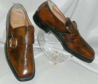 FAB VTG 70s 80s DESIGNER SLIP ON MENS BRN LEATHER SHOES NOS SZ 10 1/2