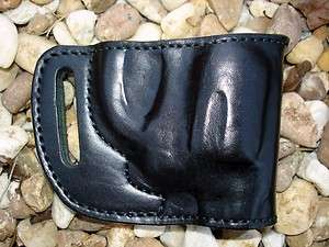 LEATHER YAQUI BELT SLIDE HOLSTER for RUGER LCR REVOLVER