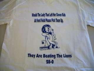 DETROIT LIONS FOOTBALL NFL T SHIRT 0 16 FUNNY TEE WOW b
