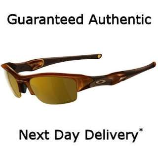 Oakley Flak Jacket XLJ Polished Rootbeer Polarised Gold Sunglasses 12