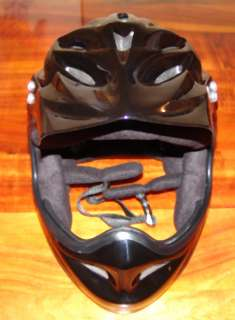 BMX BICYCLE FULL FACE HELMET BLACK LARGE NEW