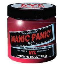 Brand New Manic Panic Hair Dye in ROCK N ROLL RED which is a fire