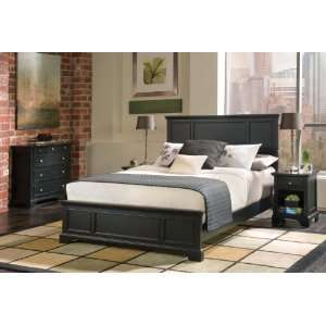 Home Styles Furniture Bedford Black Queen Bed