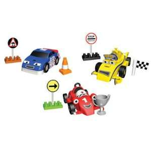 nex Roary the Racing Car, 4 Wheeled Maxi and Tin Top Building Sets