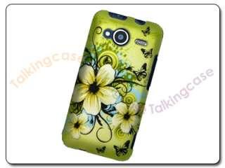 Hawaiian Flower Butterfly Case Cover HTC Evo Shift 4G