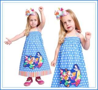 BOOAK Boutique GIRL Birthday Snow White Fabric DISNEY Vacation Halter
