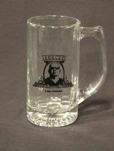 Rick Harrison 13 oz Glass Tall Beer Mug Logo Gold Pawn