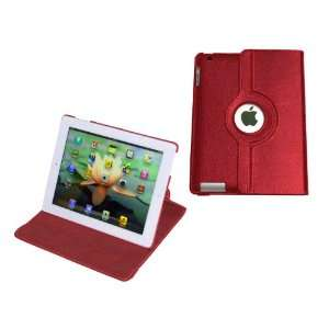 MiTAB Rotating Red Bycast Leather Case / Cover & Snyc