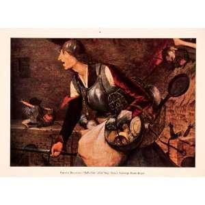 Flemish Renaissance Pieter Brueghel Mag Meg   Orig. Tipped in Print