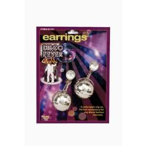 Disco Ball Costume Earrings Toys & Games