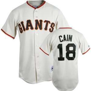 Matt Cain Ivory Majestic MLB Home Replica San Francisco