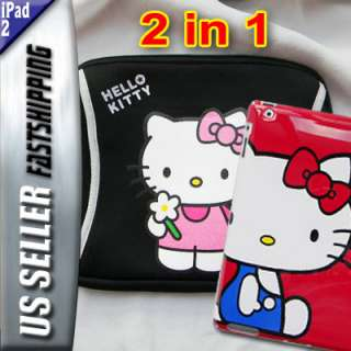 Hello Kitty Neoprene Sleeve Case Cover Pouch for iPad 2