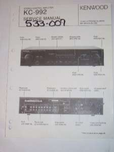 Kenwood Service Manual~KC 992 Control Amplifier