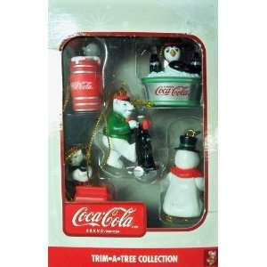 Coca Cola Trim A Tree Christmas Ornament Set