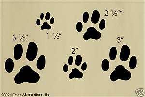 606 STENCIL Dog doggy puppy prints paws tracks feet