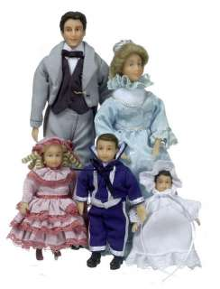 dollhouse MINI FANCY PEOPLE DOLL FAMILY CLARK VICTORIAN
