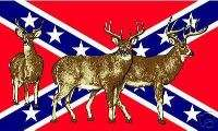 REBEL DEER FLAG   CONFEDERATE BUCK   HUNTING   DIXIE