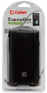 BLACK LEATHER EXECUTIVE FLIP CASE FOR MOTOROLA DROID X