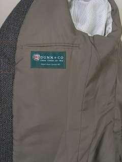 Harris Tweed Dunn & Co Tweed Sport Coat Blazer Gray Brown Black 42S