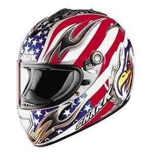 Shark RSX EAGLE WT_RD_BU XL MOTORCYCLE Full Face Helmet