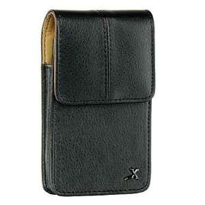black leather pouch case with belt clip for Dell Aero