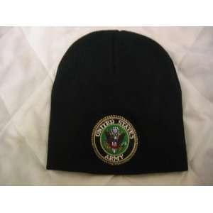 UNITED STATES ARMY BLACK BEANIE SKULL CAP