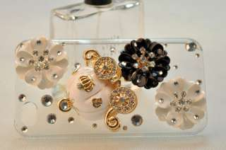 New 3D Alloy Pumpkin Carriage Bling Crystal Rhinestone Case Cover App