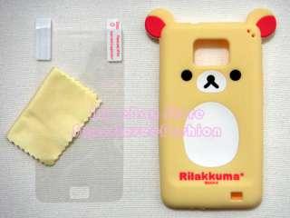 SAMSUNG GALAXY S2 S 2 II i9100 RILAKKUMA SOFT SILICONE CASE w/ Screen