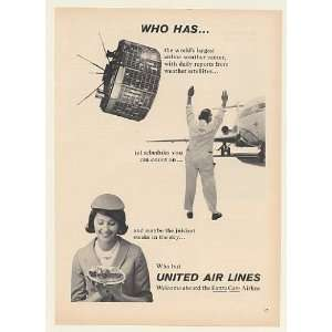 1965 United Airlines Weather Satellite Jet Stewardess