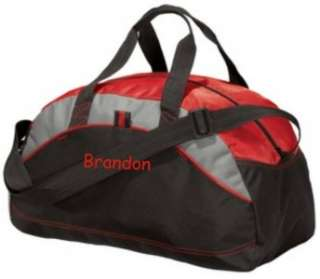Gifts Personalized Monogrammed Duffel Bag Gym Travel Small Red