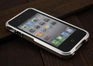 Aluminium Case Solid Edge For iPhone 4 4G 4S Blade Sliver