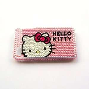 Hello Kitty head heart Rhinestone Bling Crystal back cover
