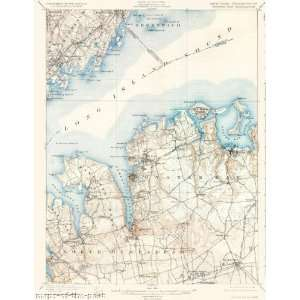 USGS TOPO MAP OYSTER BAY QUAD NEW YORK NY/CT 1900