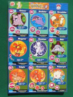 Collectable Pokemon Burger King card sheet full 20 sheet set