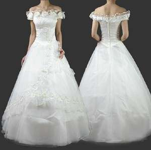 Wedding /Bridal gown,Evening /Party dress Stock SZ 6, 8, 10, 12, 14