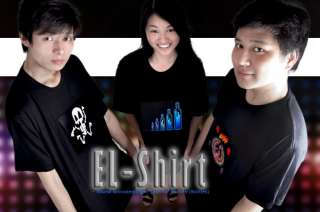 Sound Activated Electroluminescent T Shirt L, XL