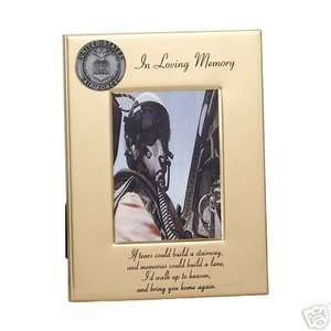 Metal Loving Memory Air Force Christian Picture Frame