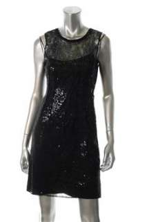 Elie Tahari NEW Isla Black Versatile Dress Lace Embellished 0