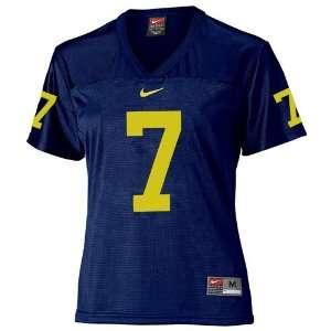 Nike Michigan Wolverines #7 Navy Ladies Replica Football