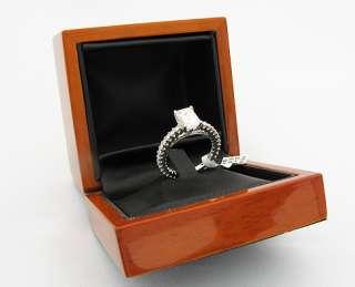 18k White Gold Ring GIA Emerald Diamond   E/SI1 2.07ct