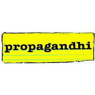 Propagandhi   Yellow & Black Logo   Large Jumbo Vinyl Sticker / Decal
