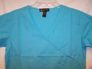 NWT APPLE BOTTOMS Medical Uniform Scrub Top BLUE S 3XL