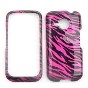 HTC Droid Eris ADR6200 Transparent Design, Hot Pink Zebra Print