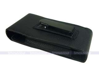 Black Leather Case for Samsung Galaxy S II Sprint Epic 4G Touch