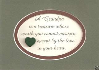Treasure LOVE Grandfathers HEART Grandparents verses poems plaques