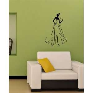 Lady in Dress Wall Sticker Decals Art Mural T482