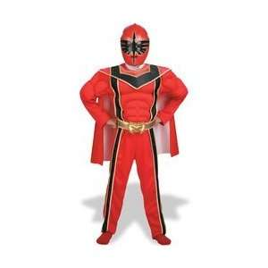Power Ranger Red Muscle Costume Boys Size 4 6 Toys