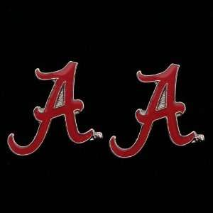 NCAA Alabama Crimson Tide Team Logo Post Earrings Sports